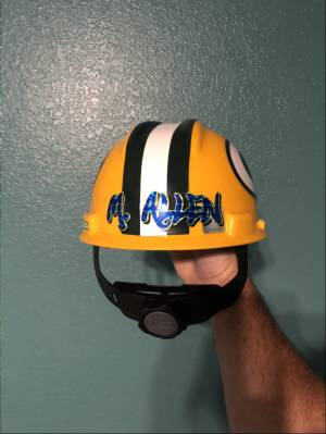 Hard hat  Lettering from Michael A, AZ