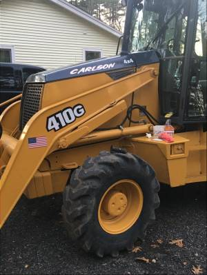 John Deere 410 backhoe  Lettering from Anthony C, MA