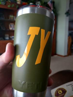 Yeti tumbler Lettering from Jeremy Y, WY