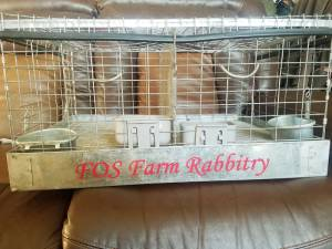Rabbit transport cage Lettering from Elaine M, CO