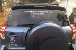 2011 Toyota Rav Car back window Lettering from Diane V, MI