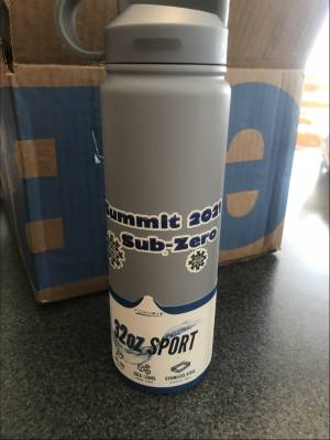Steel Water bottle Lettering from Jean M, OH