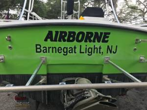 CWS Ocean Pro 31 Parasail Boats Lettering from Ty B, NJ