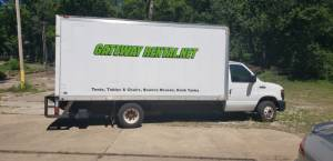 Ford E-450 16 foot box truck Lettering from Brian R, IL